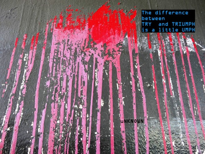 MoArt and Unknown - The Diffeence Between Try And Triumph