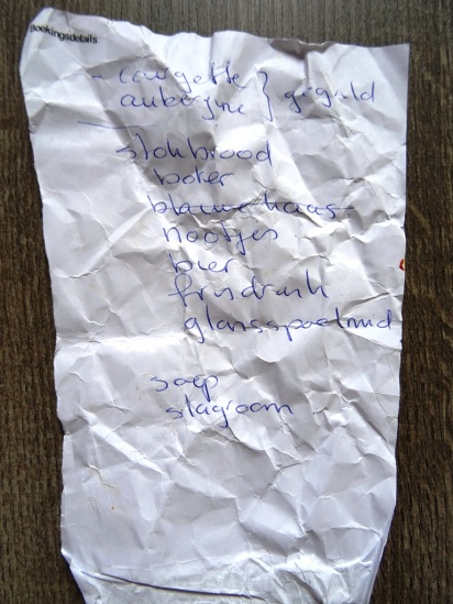 MoArt - Gevonden Boodschappenlijstjes 6