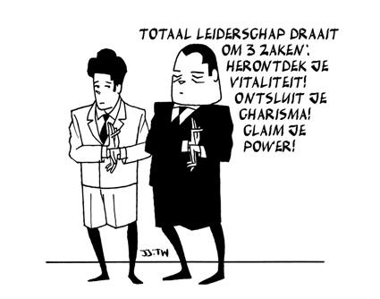 Totaal Leiderschap draait om drie zaken: herontdek je vitaliteit! ontsluit je charisma! claim je power!