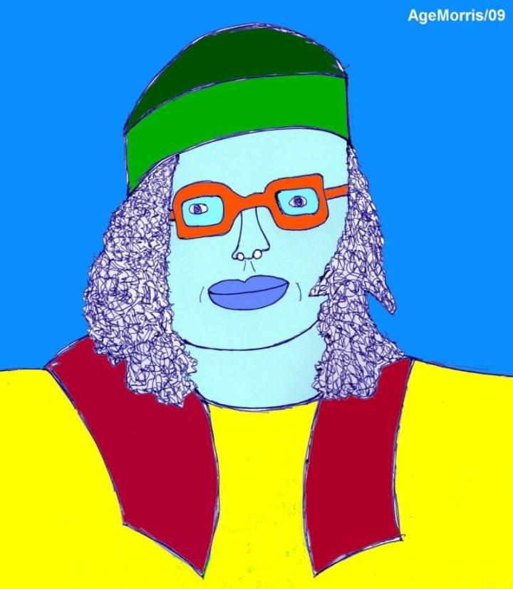 'BedrijfsToppers' is een kort project uit 2009 - met eigen tekenwerk! ..... (6) SUPERKLEURCOACH BRECHTJE ZONNEKLAAR: Kijk: GrijsVoelers worden GrijsDenkers worden GrijsDoeners, en voor je het weet lijdt je company aan kleurLOZE creativiteit! Oftewel: aan AsGrauwe Verstarring!!! Om dat te voorKOMEN laat ik employees altijd de 'Voel JIJ je WELeens Grijs?'- test doen. Op basis van de outcome hiervan bepaal ik ieders GrijsFactor en GrijsGevoeligheid, en middels continuous monitoring track ik dan of de 1ste te hoog en/of de 2de te kritisch wordt. Zo ja, dan grijp ik DIrect in. Oftewel: dan SMOOR ik de Funeste Grijze Gevoelens met een shotje SuperKleurKracht!