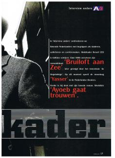 AIESEC A4 Magazine - november 2001 - Interview Anders - Schrijver Abdelkader Benali - 2-4