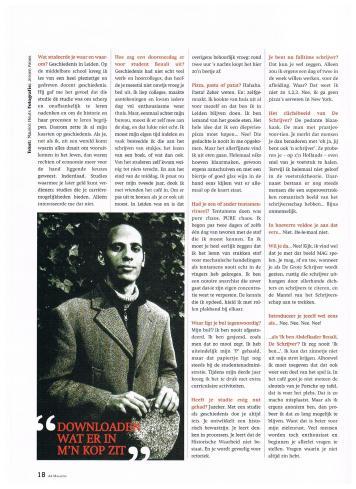 AIESEC A4 Magazine - november 2001 - Interview Anders - Schrijver Abdelkader Benali - 3-4