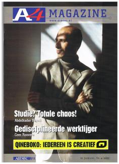 AIESEC A4 Magazine - november 2001 - Interview Anders - Schrijver Abdelkader Benali - cover