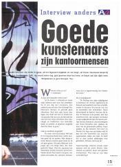 AIESEC A4 Magazine - mei 2000 - Interview Anders Striptekenaar Gerrit de Jager - 2-4