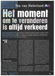 AIESEC A4 Magazine - mei 2000 - Top van Nederland Super CEO Roel Pieper - 2-4