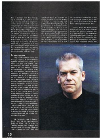 AIESEC A4 Magazine - mei 2000 - Top van Nederland Super CEO Roel Pieper - 3-4