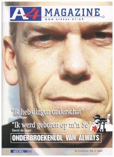 AIESEC A4 Magazine - mei 2000 - Top van Nederland Super CEO Roel Pieper - cover