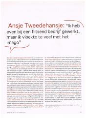 Gerrie Hondius - Ansje TweedeHansje - maandblad Opzij