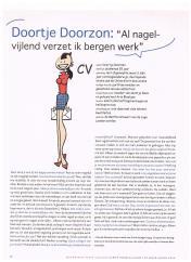 Gerrit de Jager - Doortje Doorzon - weekblad Nieuwe Revu