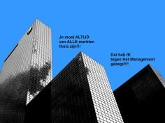 Je moet ALTIJD van ALLE markten thuis zijn!!! Dat het IK tegen Het Management gezegd!!!