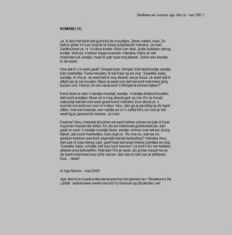 Helemaal Hopeloos columns - Age Morris - Romano trilogie 1-3